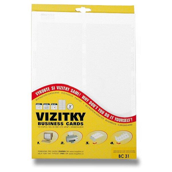 Vizitkový karton Trodat bílý, 100 ks vizitek
