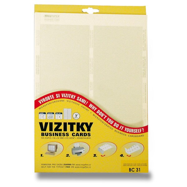 Vizitkový karton Trodat žlutý, 100 ks vizitek