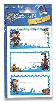 Obrázek produktu Samolepicí štítky na sešity - Piráti