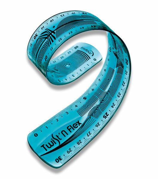 Pravítko Maped Twist`n Flex 30 cm, mix barev