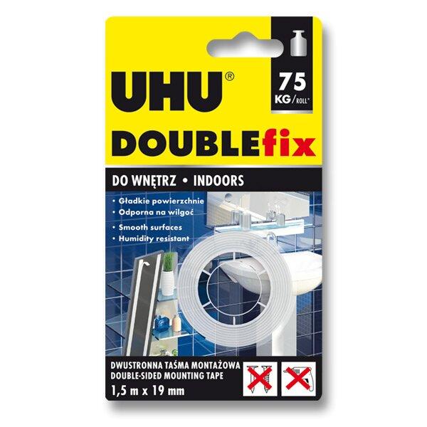 Oboustranná lepicí páska Uhu Double Fix 19 mm x 1,5 m
