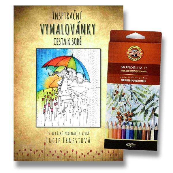Inspirační vymalovánky Cesta k sobě a akvarelové pastelky Koh-i-noor