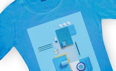 Tisk na barevný textil - velikost 20 x 30 cm