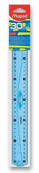 Obrázek produktu Pravítko Maped Geometric oboustranné - 30 cm, mix barev