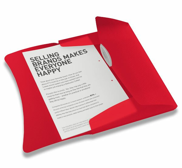 Spisové desky s gumičkou Esselte Vivida červené