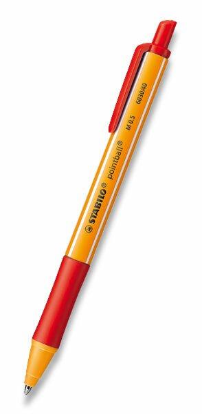 Kuličková tužka Stabilo Pointball červená