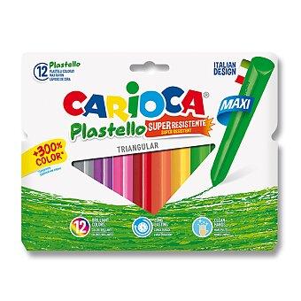 Obrázek produktu Plastové pastely Carioca Plastello Maxi - 12 barev, trojhranné