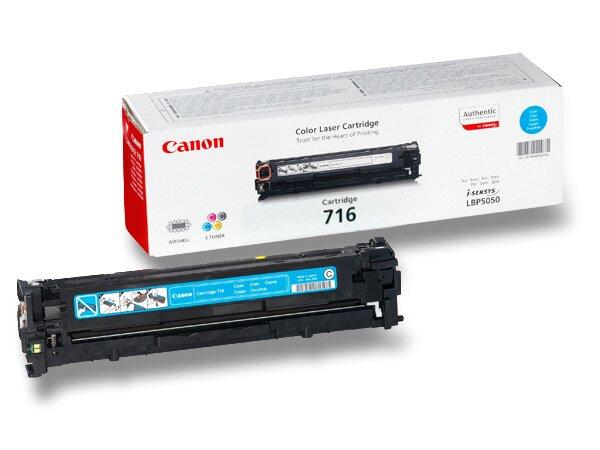Toner Canon CRG-716 pro laserové tiskárny cyan (modrý)