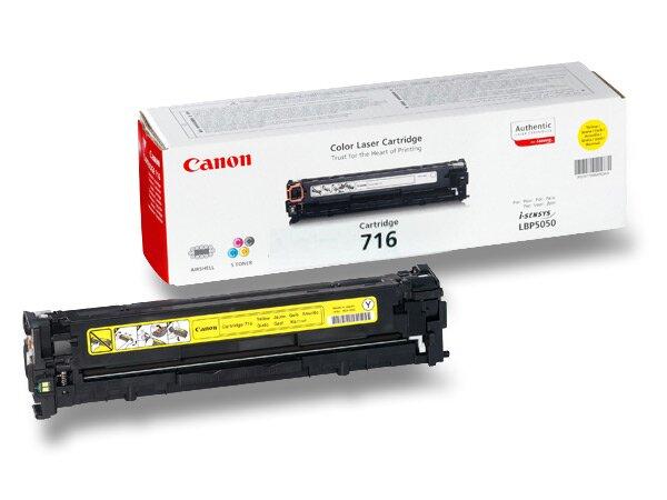 Toner Canon CRG-716 pro laserové tiskárny yellow (žlutý)