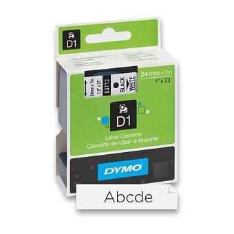 Obrázek produktu Polyesterová páska Dymo D1 - 24 mm x 7 m, černý tisk / bílá páska