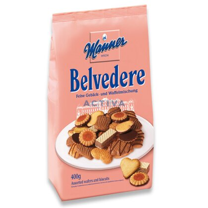Obrázek produktu Manner Belvedere - mix sušenek a oplatek, 400 g