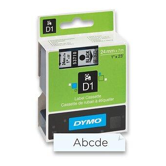 Obrázek produktu Polyesterová páska Dymo D1 - 24 mm x 7 m, černý tisk / transparentní páska