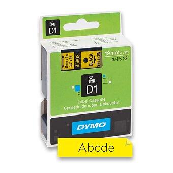Obrázek produktu Polyesterová páska Dymo D1 - 19 mm x 7 m, černý tisk / žlutá páska