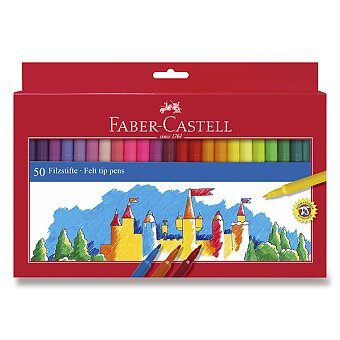 Obrázek produktu Dětské fixy Faber-Castell - 50 barev