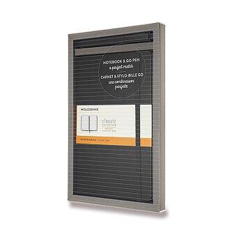 Obrázek produktu Zápisník Moleskine - tvrdé desky - L, dárková sada s GoPen, černá