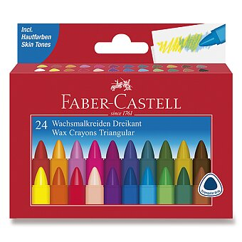 Obrázek produktu Voskovky Faber-Castell trojhranné - 24 barev