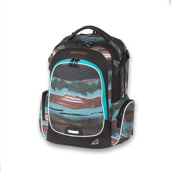 Školní batoh Walker Campus Wizzard Blue Pile b7ef00d5c3