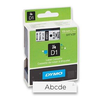 Obrázek produktu Polyesterová páska Dymo D1 - 19 mm x 7 m, černý tisk / bílá páska