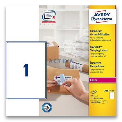 Obrázek produktu Avery Zweckform - zásilkové 100% krycí etikety - 199,6 x 289,1mm, 100 etiket