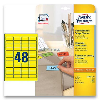 Obrázek produktu Avery Zweckform - nepermanentní etikety -  45,7 x 21,2 mm, 960 etiket