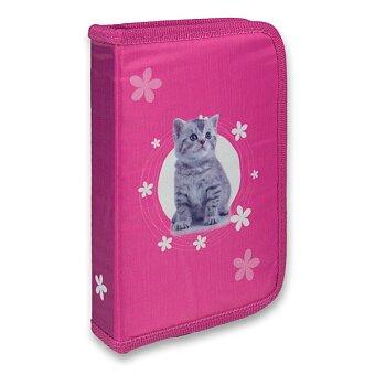 Obrázek produktu Penál Kočka - 1patrový, 1 chlopeň, s náplní