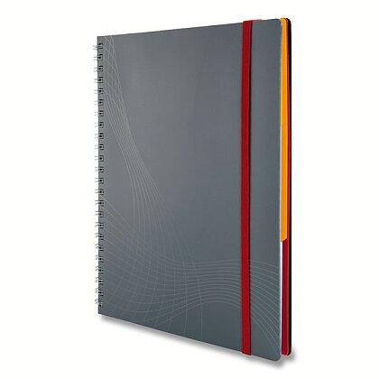 Obrázek produktu Avery Zweckform Notizio - kroužkový blok - A4, 90 l., linkovaný, bílé linky, šedý
