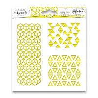 Pochoir Textile - Trojúhelníky