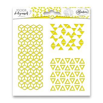 Obrázek produktu Pochoir Textile - Trojúhelníky - 15 x 15 cm