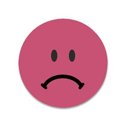Obrázek produktu Avery Zweckform - kulaté etikety se smajlíkem - červený smutný smajlík, 250 ks