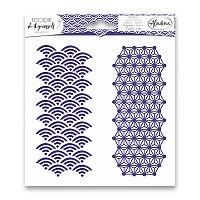 Pochoir Textile - Japonská geometrie