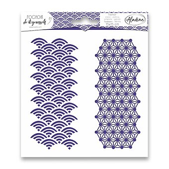 Obrázek produktu Pochoir Textile - Japonská geometrie - 15 x 15 cm