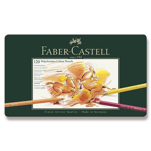 Pastelky Faber-Castell Polychromos plechová krabička, 120 barev