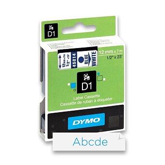 Obrázek produktu Polyesterová páska Dymo D1 - 12 mm x 7 m, modrý tisk / bílá páska