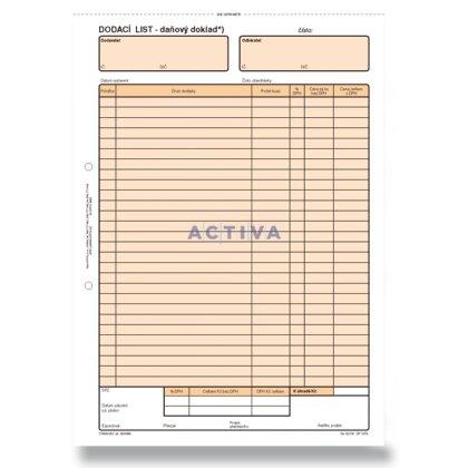 Obrázek produktu Optys - dodací list A4