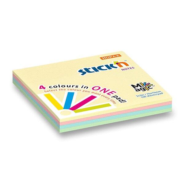 Samolepicí bloček Hopax Stick'n Notes Magic Pads 76 x 76 mm, 100 listů, pastelový Stick'n by Hopax
