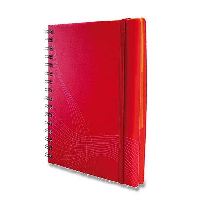 Obrázek produktu Avery Zweckform Notizio - kroužkový blok - A5, 90 l., čtverečkovaný, bílé linky, červený