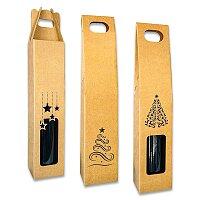 Dárková krabice na víno s vánočním motivem