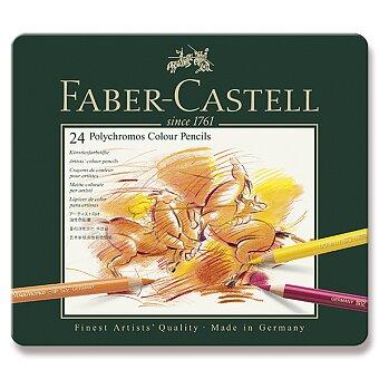 Obrázek produktu Pastelky Faber-Castell Polychromos - plechová krabička, 24 barev