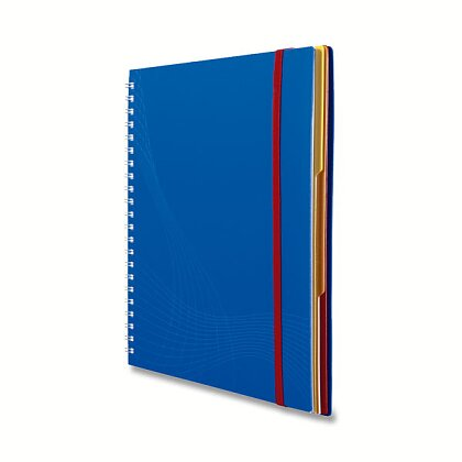 Obrázek produktu Avery Zweckform Notizio - kroužkový blok - A5, 90 l., čtverečkovaný, bílé linky, modrý