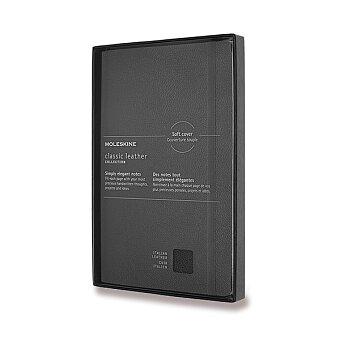 Obrázek produktu Zápisník Moleskine kožený - měkké desky - L, linkovaný, černý