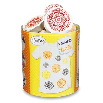 Obrázek produktu Razítka Aladine Stampo Textile - Mandaly, 9 ks