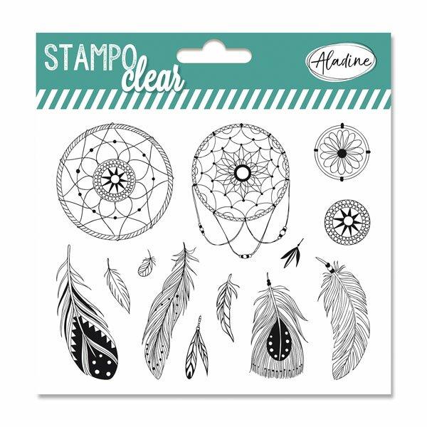 Razítka gelová Stampo Clear Lapač snů, 13 ks