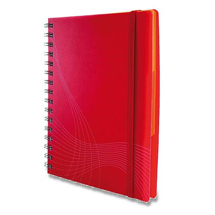 Product image Avery Zweckform Notizio - spiral pad- A4, 90 s., squared, white ruling, red