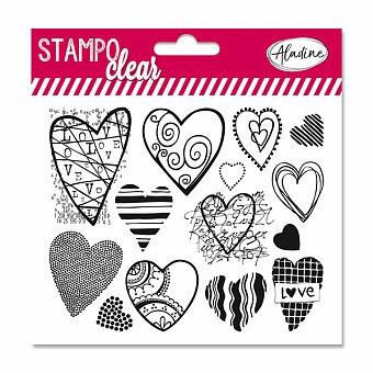 Obrázek produktu Razítka gelová Stampo Clear - Srdíčka