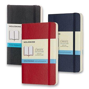 Obrázek produktu Zápisník Moleskine - měkké desky - S, tečkovaný, výběr barev