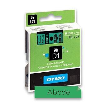 Obrázek produktu Polyesterová páska Dymo D1 - 9 mm x 7 m, černý tisk / zelená páska