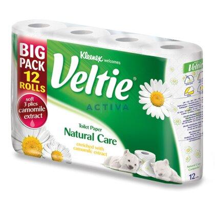 Obrázek produktu Veltie Camomile - toaletní papír - 3-vrstvý, 150 útržků, 12 ks