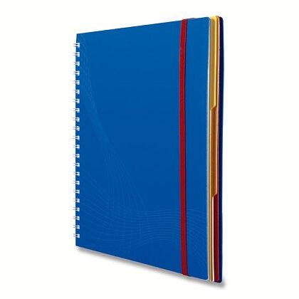Obrázek produktu Avery Zweckform Notizio - kroužkový blok - A4, 90 l., čtverečkovaný, bílé linky, modrý
