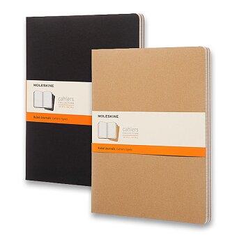 Obrázek produktu Sešity Moleskine Cahier - tvrdé desky - XXL, linkovaný, 3 ks, výběr barev