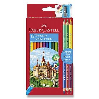 Obrázek produktu Pastelky Faber-Castell - 12 barev + 6 barev
